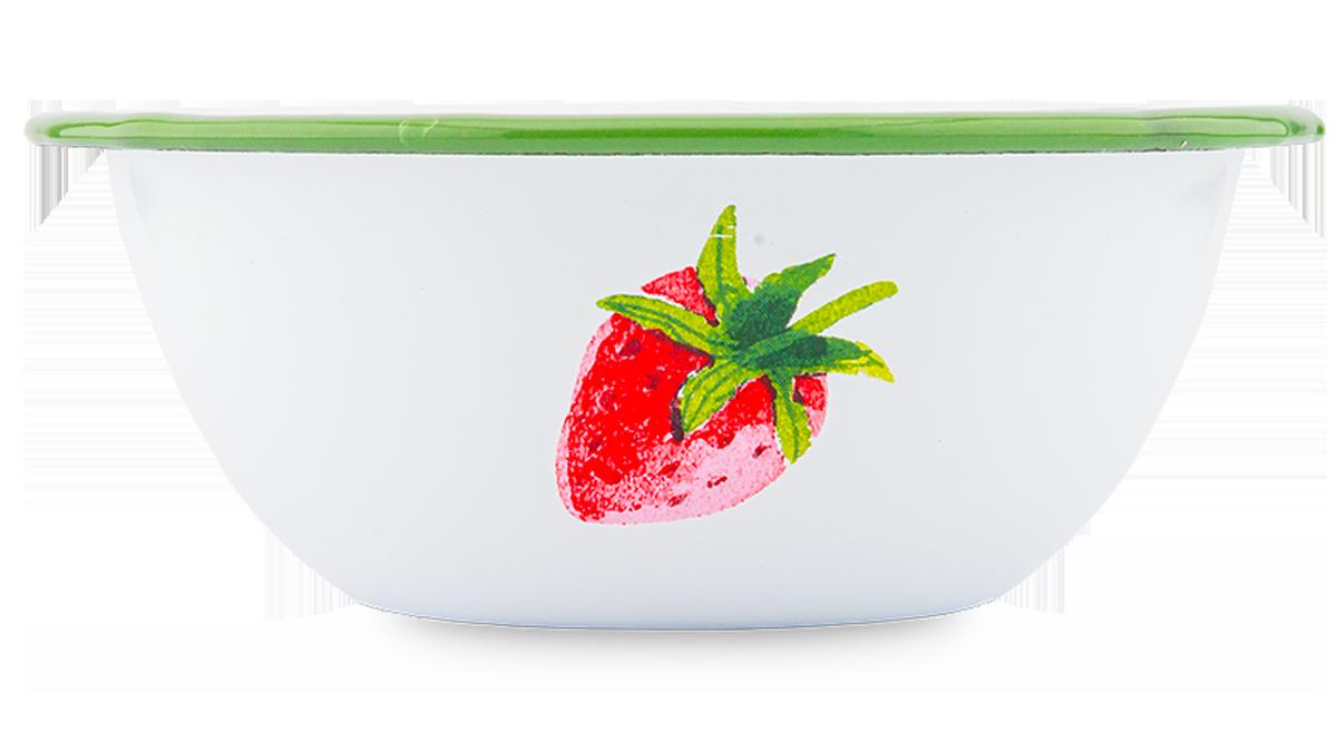 """Emaille-Müslischale  """"Erdbeere"""""""