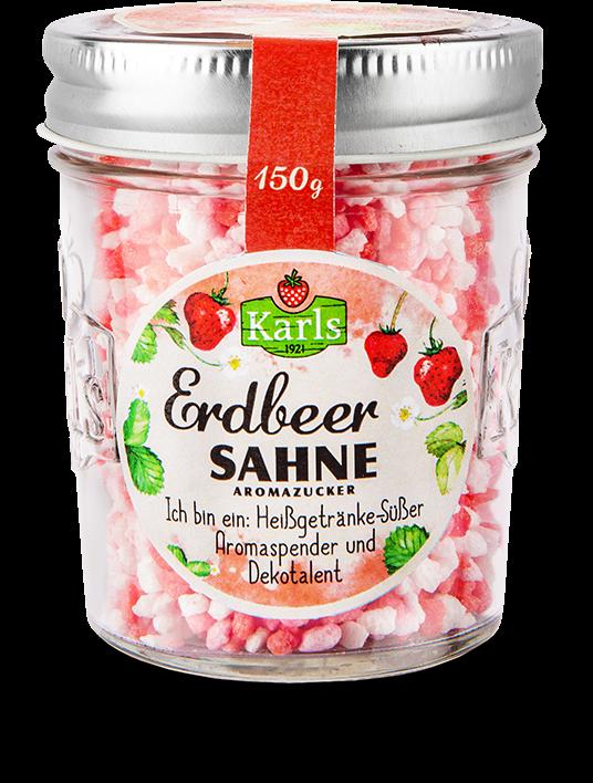 Erdbeer-Sahne-Zucker im Glas