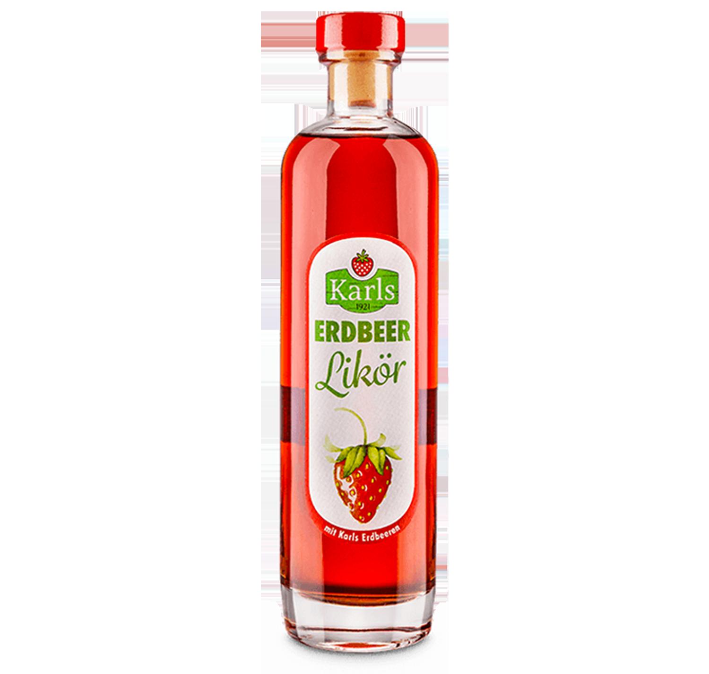 Erdbeerlikör mit Karls Erdbeeren