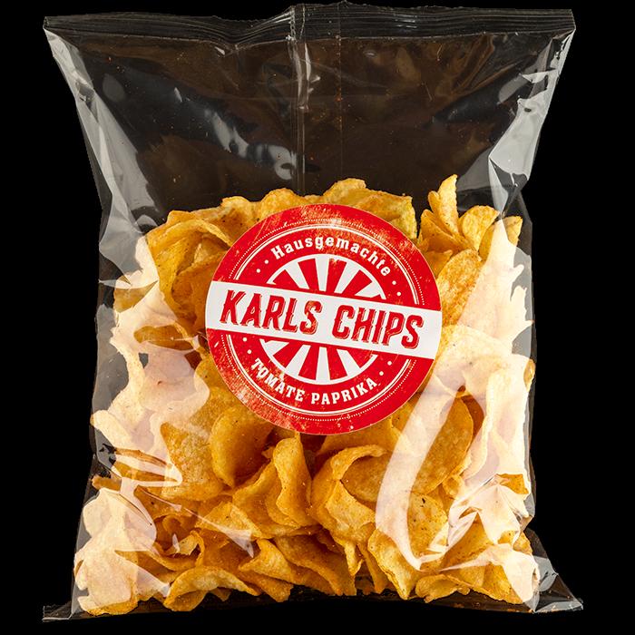 """Hausgemachte Karls Chips """"Tomate Paprika"""""""