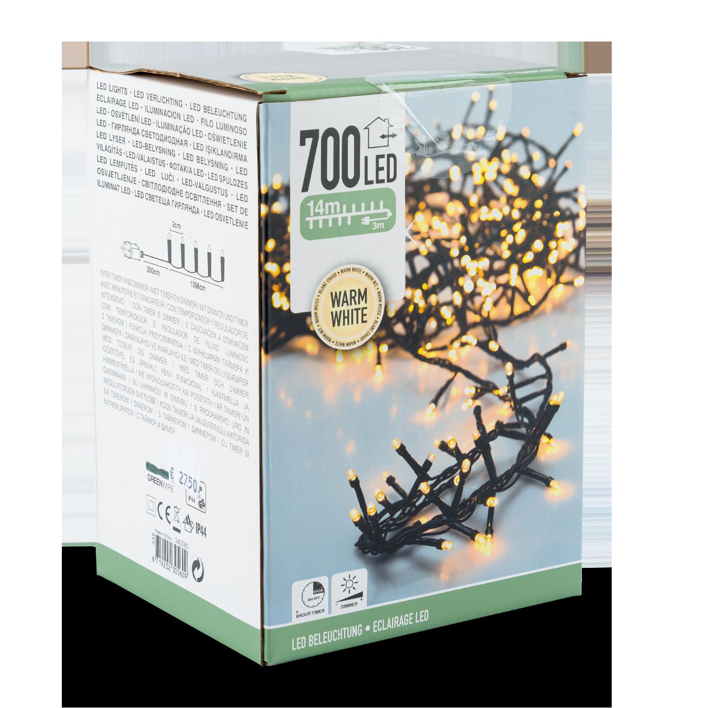 Cluster-Lichterkette 700 LED außen