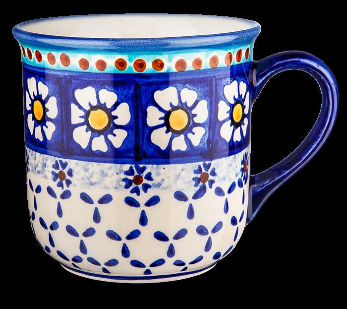 "Kaffeebecher ""Kamille blau"""