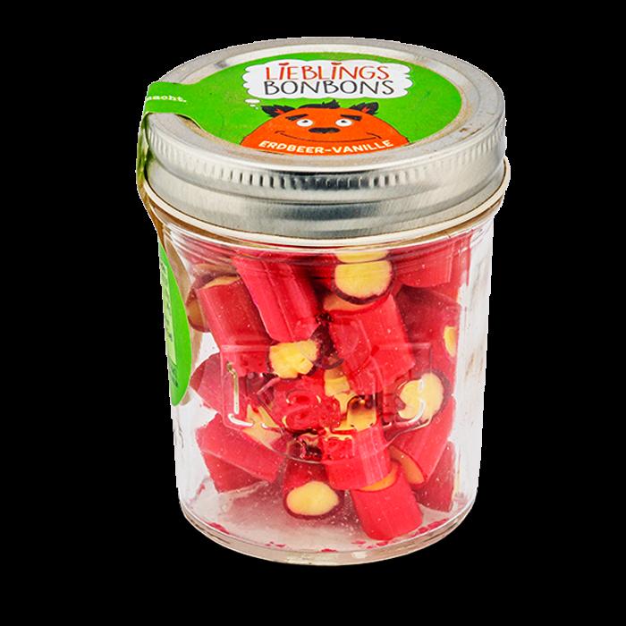 Erdbeer-Vanille-Bonbons