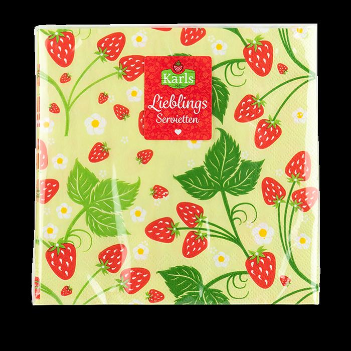 Serviette Erdbeere