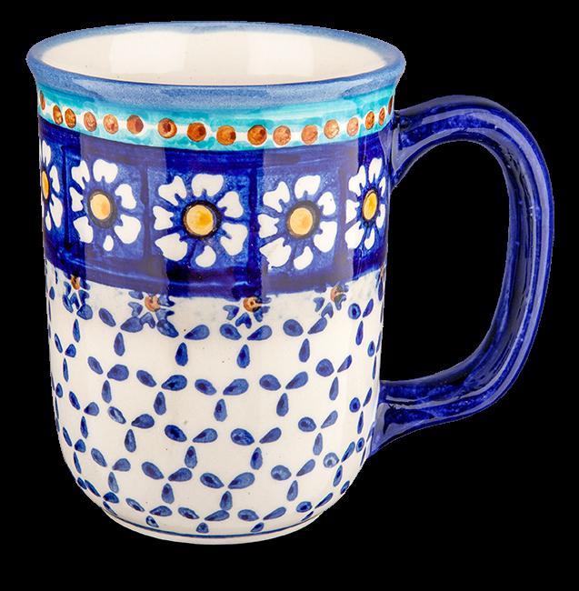 Kaffeebecher groß Kamille blau
