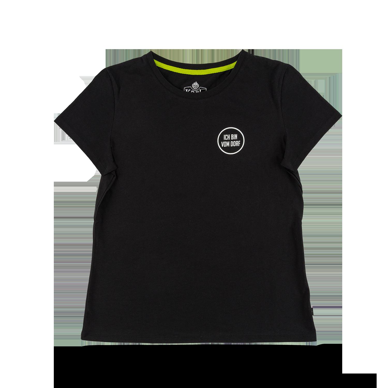 """Damen-T-Shirt """"Vom Dorf"""" schwarz  GR. XXL"""