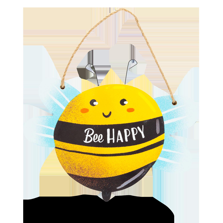 """Schild """"Bee Happy"""""""