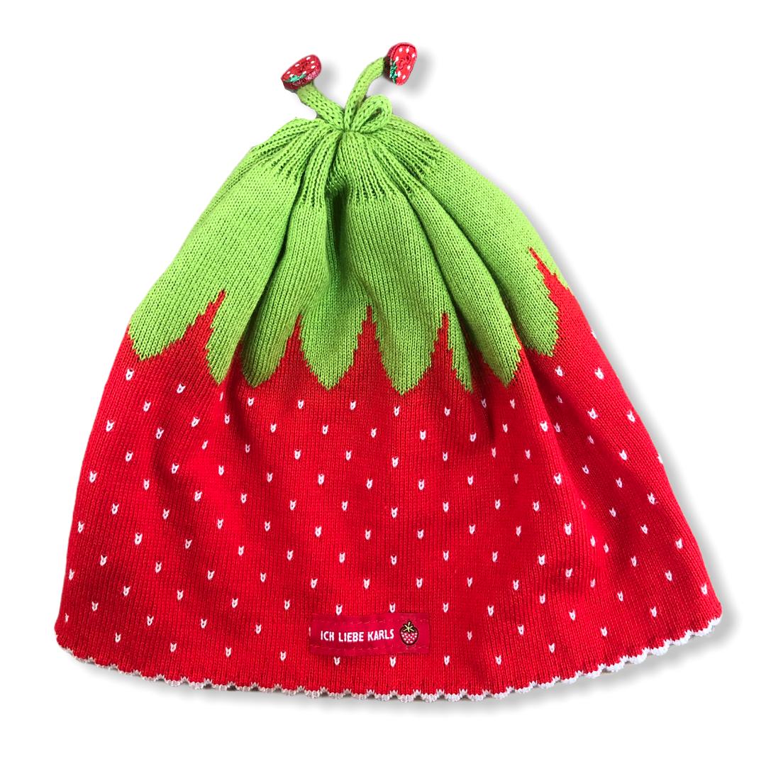 "Mini-Mütze ""Erdbeere"" Gr.45"