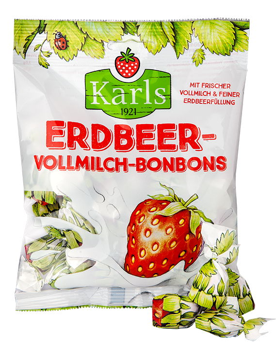 Erdbeer-Vollmilch-Bonbons