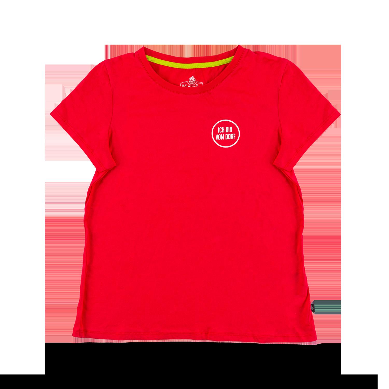 "Damen-T-Shirt ""Vom Dorf"" rot   GR. M"