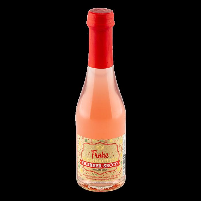 """Erdbeer Secco """"Frohe Weihnachten"""" 0,2l"""