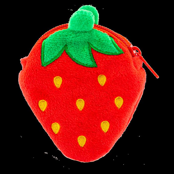 Erdbeer-Plüsch-Geldbörse