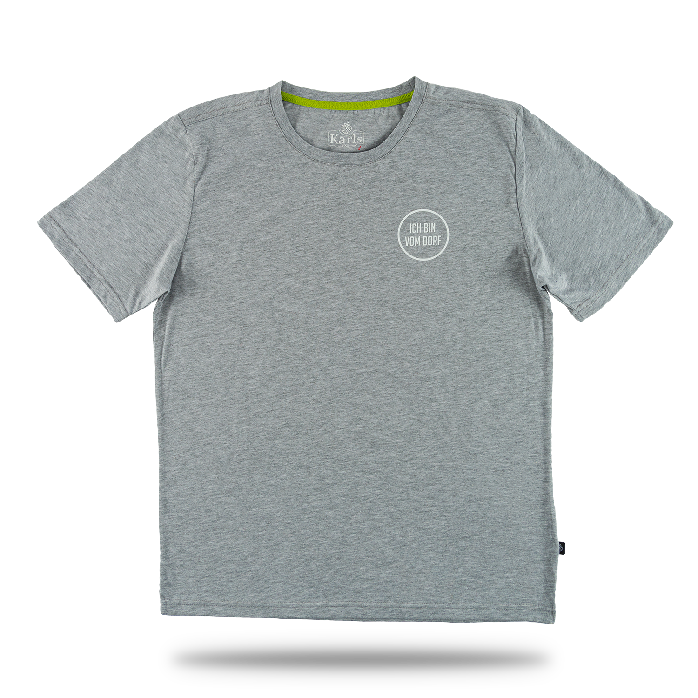 """Herren T-Shirt """"Vom Dorf"""" grau Gr. XL"""