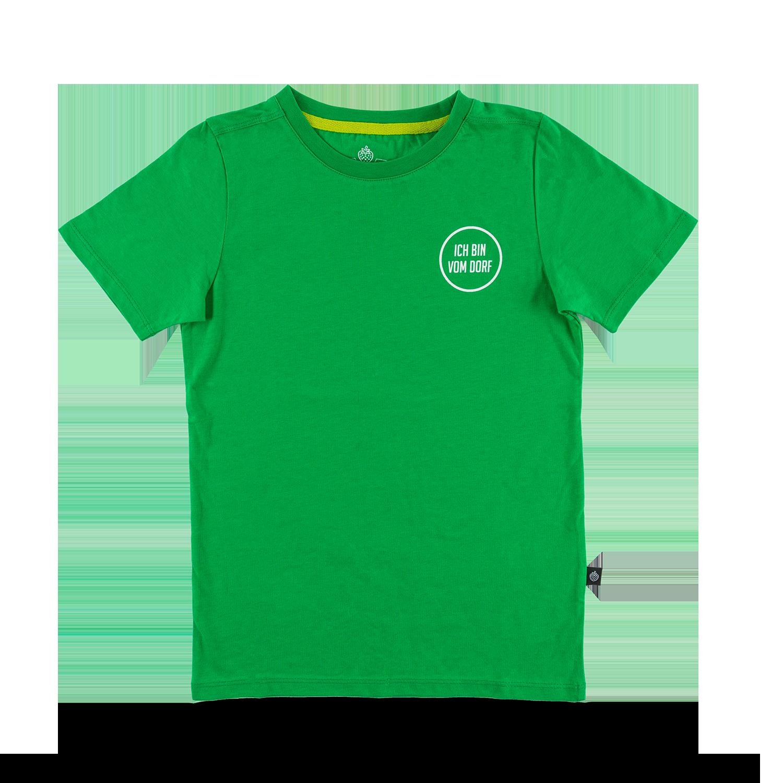 """Kids T-Shirt """"Vom Dorf"""" grün Gr. 104/110"""