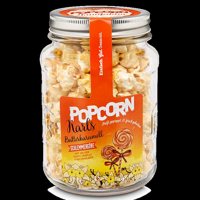 """Karls Popcorn-""""Schlemmergöre"""" im Glas"""