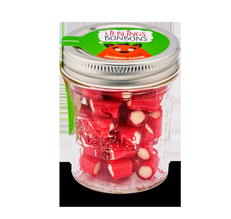 Erdbeer-Sahne-Bonbons