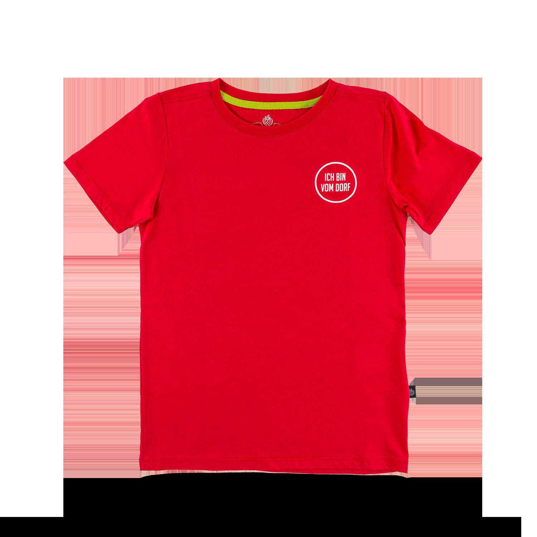"""Kids T-Shirt """"Vom Dorf"""" red Gr. 92/98"""