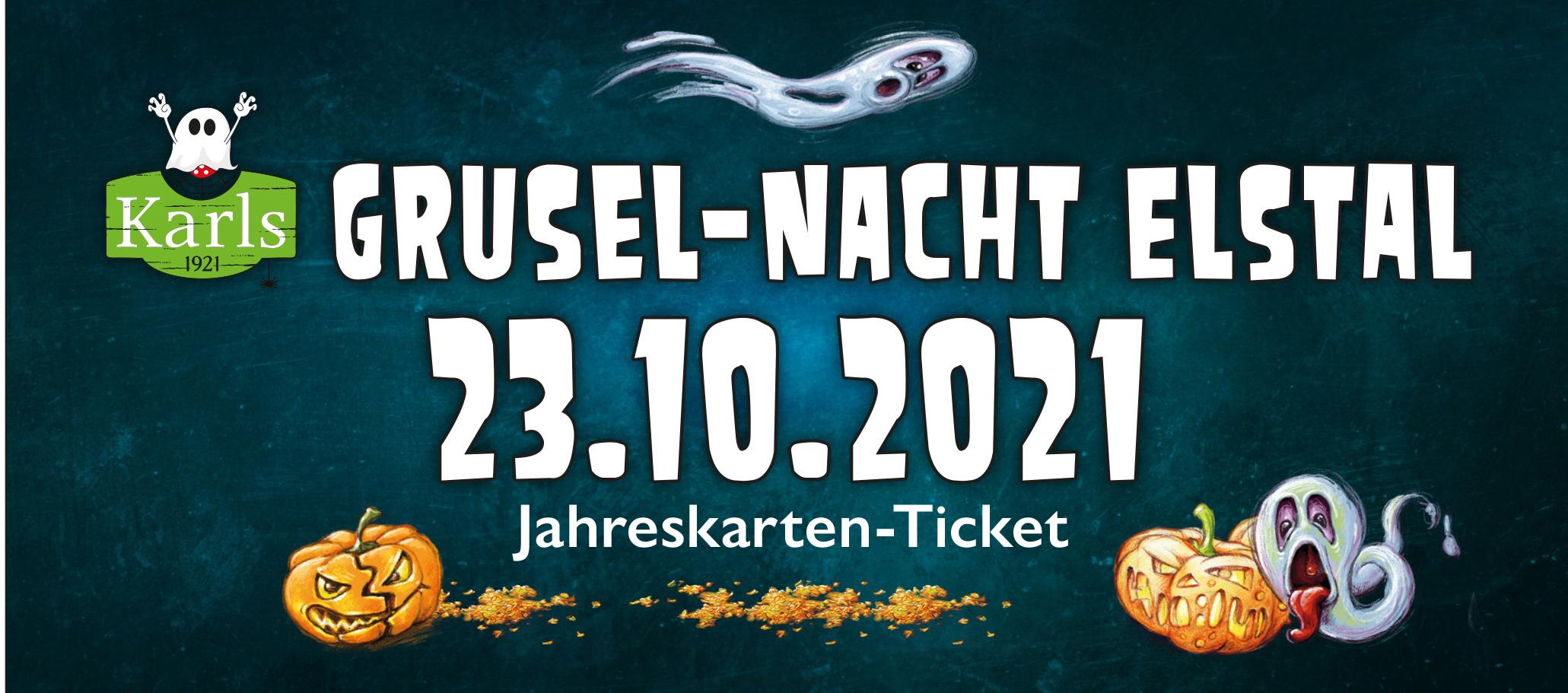 Grusel-Nacht Elstal für Jahreskarten-Inhaber 23.10.2021 - ruckzuck per Mail