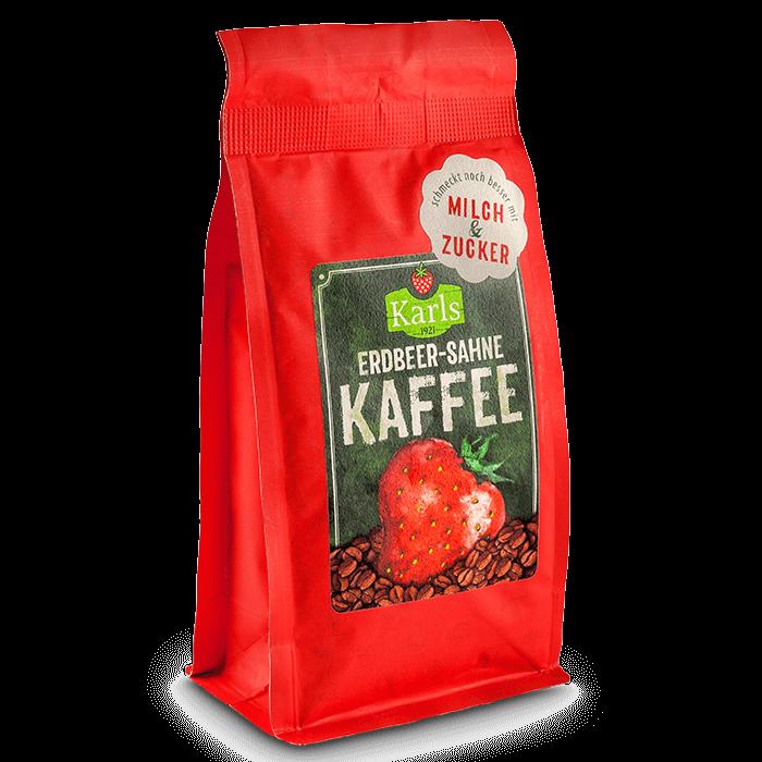 Erdbeer-Sahne-Kaffee