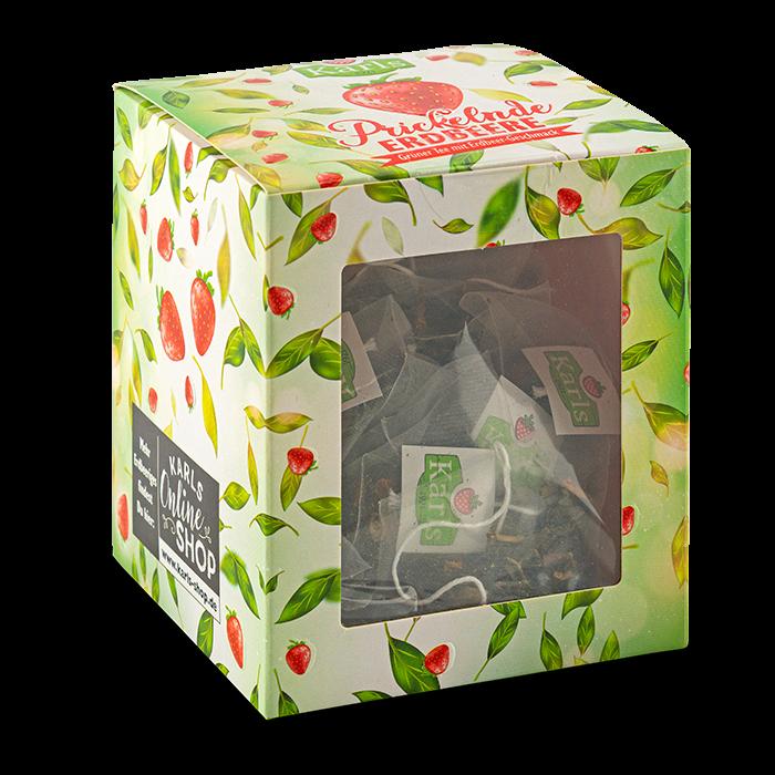 Prickelnde Erdbeere-Teebox