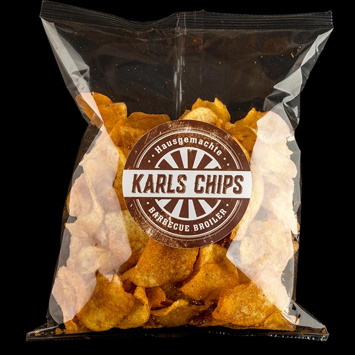 """Hausgemachte Karls Chips """"Barbecue Broiler"""""""