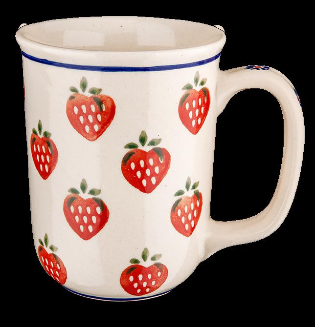 Kaffeebecher groß Erdbeere