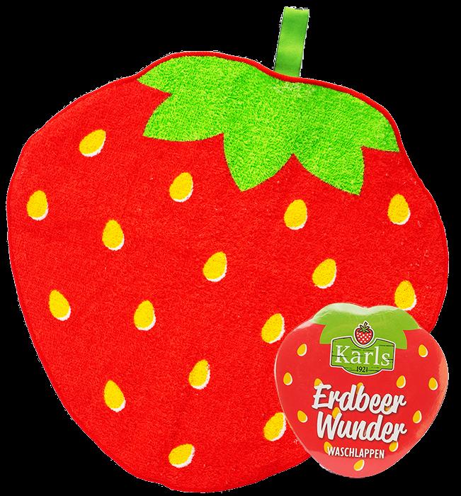 Erdbeer-Wunderwaschlappen