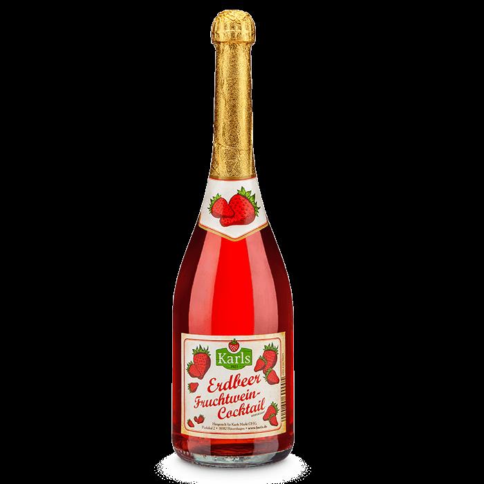 Erdbeer-Fruchtwein-Cocktail