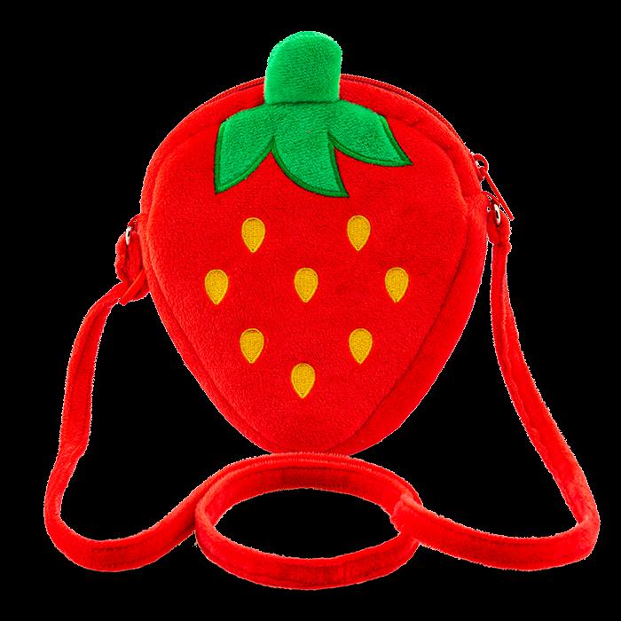 Erdbeer-Plüsch-Tasche