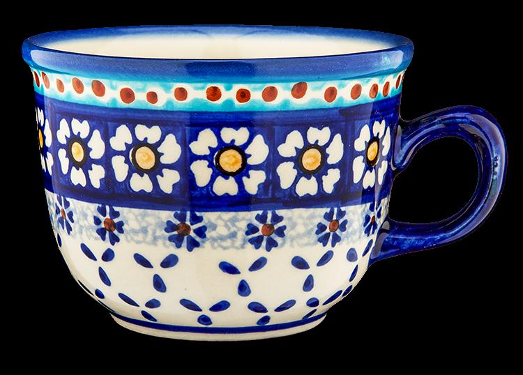 """Kaffeetasse """"Kamille blau"""""""