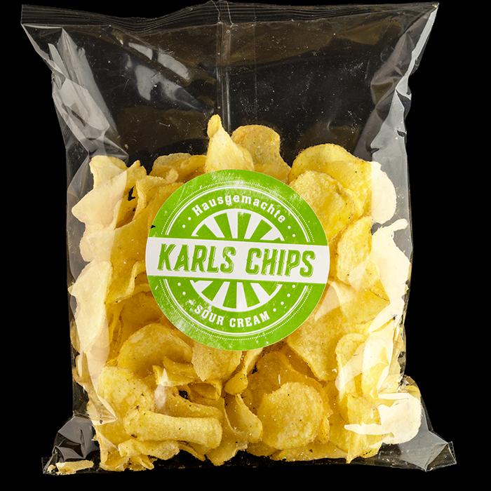 """Hausgemachte Karls Chips """"Sour Cream"""""""