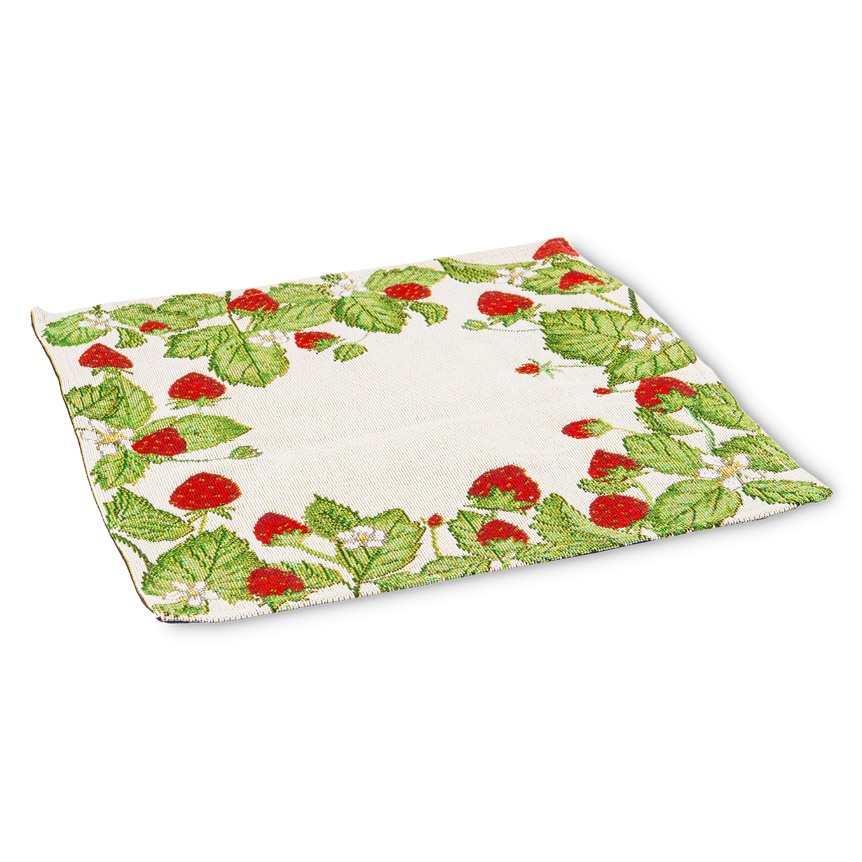 """Platzdeckchen """"Strawberries""""  32 x 32 cm"""