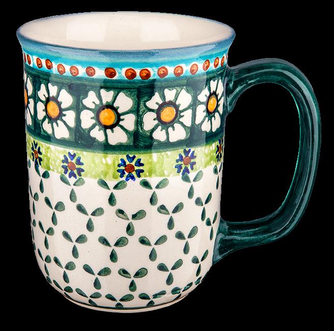Kaffeebecher groß Kamille grün