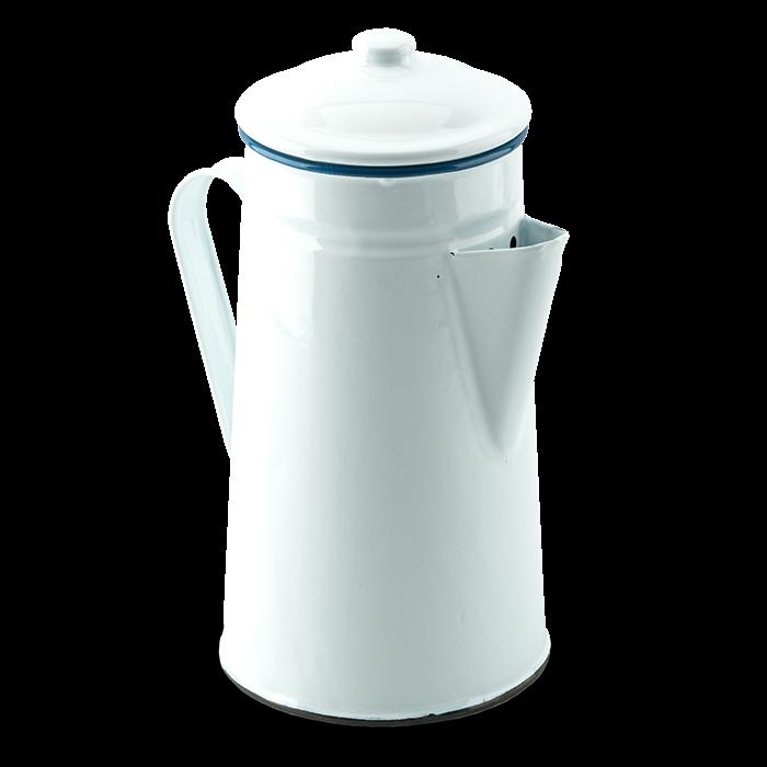 Emaille-Kaffeekanne