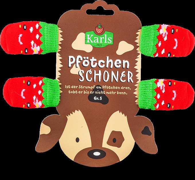 """Pfötchenschoner """"Erdbeere"""" Gr.S"""