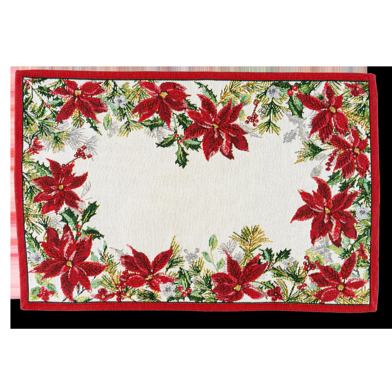 "Deckchen ""Winter-Blossom""  quadratisch"