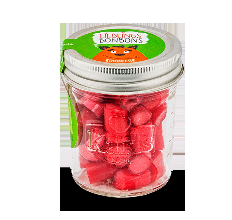 Erdbeer-Bonbons