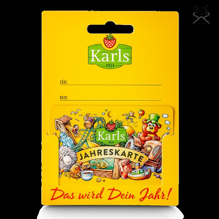 Gutschein für Karls Jahreskarte - gelb