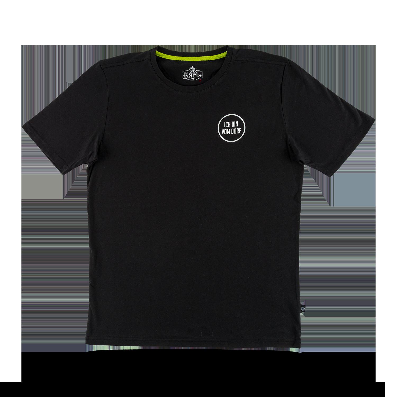 """Herren T-Shirt """"Vom Dorf"""" schwarz  Gr. S"""