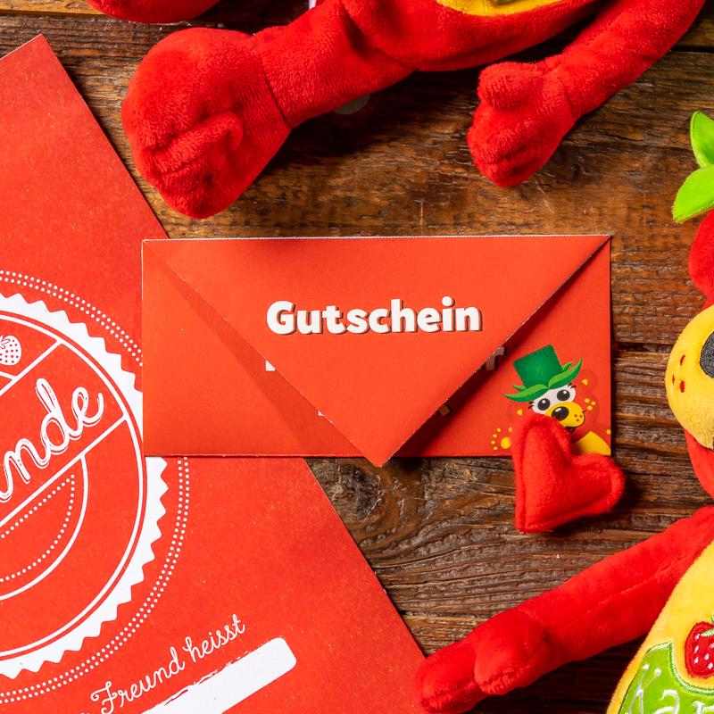"""Gutschein """"Kuscheltierfabrik"""" zum sofort Ausdrucken"""