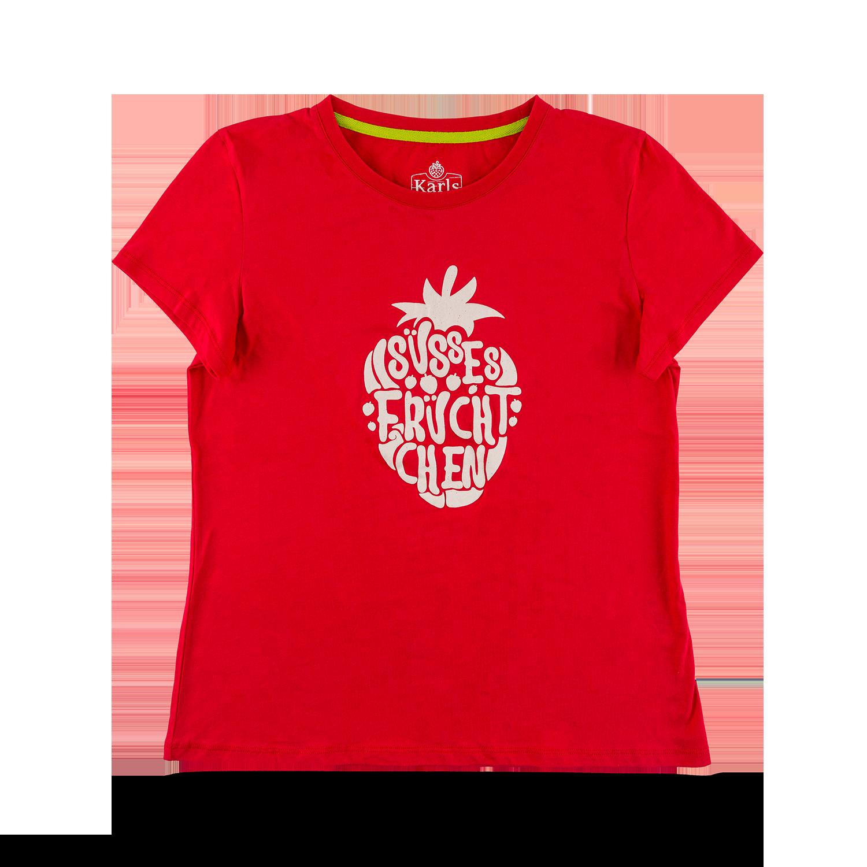 """Damen-T-Shirt """"Süßes Früchtchen"""" rot GR. XXL"""