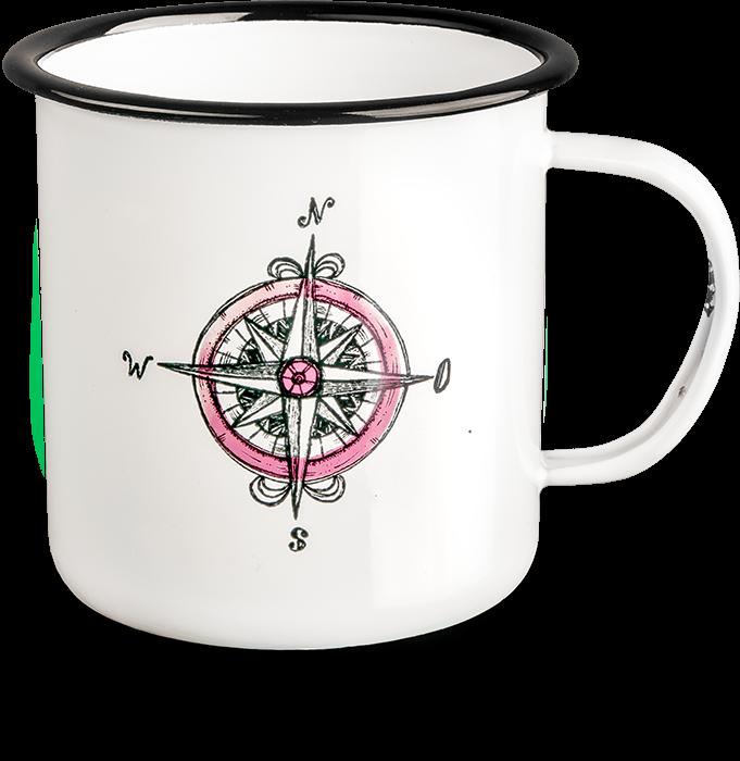 """Emaille-Becher """"Kompass"""""""